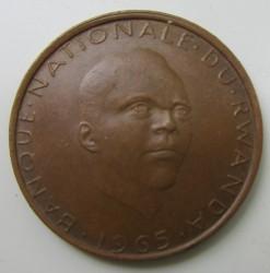Moneda > 5francos, 1964-1965 - Rwanda  - reverse
