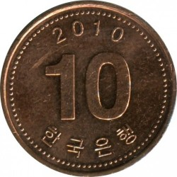 Münze > 10Won, 2006-2017 - Süd Korea  - obverse