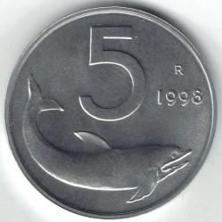 سکه > 5لیره, 1998 - ایتالیا  - reverse