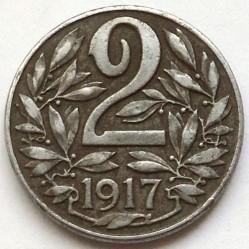 Moneda > 2heller, 1916-1918 - Àustria  - reverse