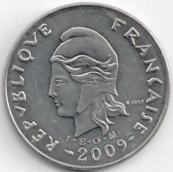 Монета > 20франков, 2006-2017 - Новая Каледония  - reverse
