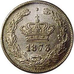 Münze > 50Bani, 1873-1876 - Rumänien   - obverse