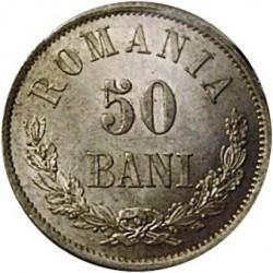 Münze > 50Bani, 1873-1876 - Rumänien   - reverse