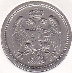 Монета > 10пара, 1883-1917 - Сербия  - reverse