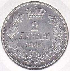 Moneta > 2dinara, 1904-1915 - Serbia  - reverse