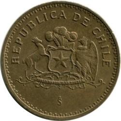 Coin > 100pesos, 1998 - Chile  - reverse