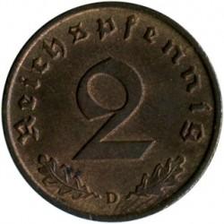 Coin > 2reichspfennig, 1936-1940 - Germany - Third Reich  - obverse