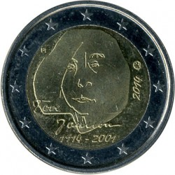 Moneta > 2eurai, 2014 - Suomija  (100th Anniversary - Birth of Tove Jansson) - reverse