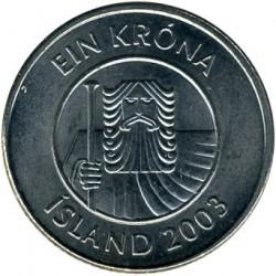 Mynt > 1krona, 2003 - Island  - reverse