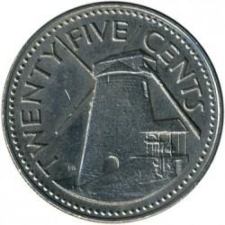 Monedă > 25cenți, 1973-2006 - Barbados  - obverse