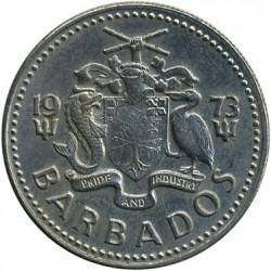 Monedă > 25cenți, 1973-2006 - Barbados  - reverse