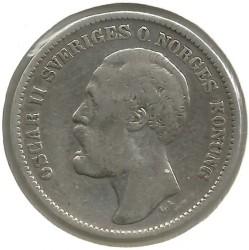 Pièce > 2couronnes, 1876-1880 - Suède  - obverse