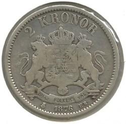 Pièce > 2couronnes, 1876-1880 - Suède  - reverse
