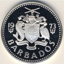 Moneta > 5dollari, 1973-1982 - Barbados  (Fountain) - obverse