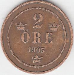 Münze > 2Öre, 1877-1905 - Schweden   - reverse