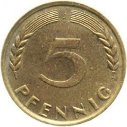 Coin > 5 pfennig, 1949 - Germany  - obverse