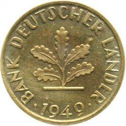 العملة > 5فنيغ, 1949 - ألمانيا  - reverse