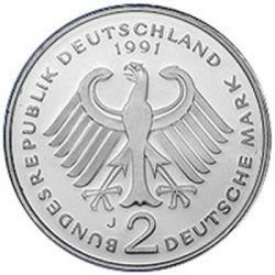 2 Mark 1991 Ludwig Erhard Deutschland Münzen Wert Ucoinnet