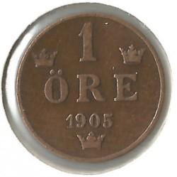 Coin > 1öre, 1879-1905 - Sweden  - obverse