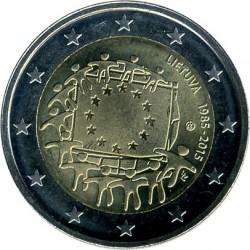 מטבע > 2אירו, 2015 - ליטא  (30th Anniversary - European Union flag) - obverse