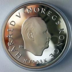 Moneta > 100corone, 1993 - Norvegia  (XVII Winter Olympic Games, Lillehammer 1994 - Figure Skating) - obverse