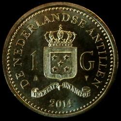 Νόμισμα > 1Γκούλντεν, 2014-2016 - Ολλανδικές Αντίλλες  - obverse