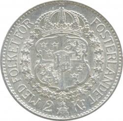 Mynt > 2kroner, 1935 - Sverige  - reverse