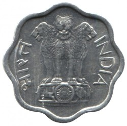 Coin > 2paise, 1968-1971 - India  - obverse