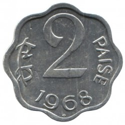 Coin > 2paise, 1968-1971 - India  - reverse