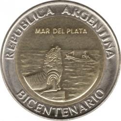Moneda > 1peso, 2010 - Argentina  (Bicentenario de Argentina - Mar del Plata) - obverse