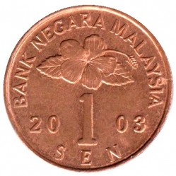 Кованица > 1сен, 1989-2007 - Малезија  - obverse