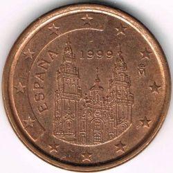 Монета > 1цент, 1999-2009 - Іспанія  - obverse