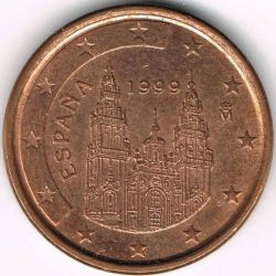 Moneta > 1centesimodieuro, 1999-2009 - Spagna  - reverse