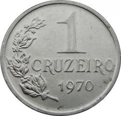 Coin > 1cruzeiro, 1970 - Brazil  - reverse