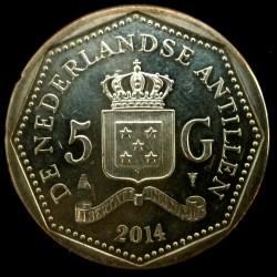 Νόμισμα > 5Γκούλντεν, 2014-2016 - Ολλανδικές Αντίλλες  - reverse