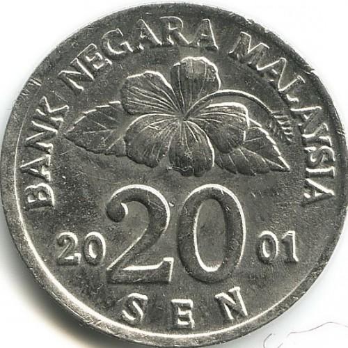 20 sen 1989-2011, Malaysia - Coin value - uCoin net