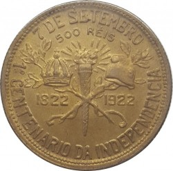 Монета > 500рейса, 1922 - Бразилия  (100th Anniversary - Independence of Brazil) - reverse