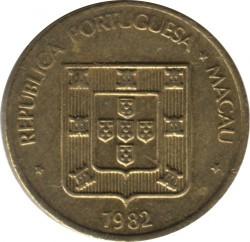 Монета > 10аво, 1982-1988 - Макао  - obverse
