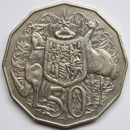 Монета elizabeth 2 australia 50 cents ру бонгскам