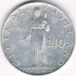 Mynt > 10lire, 1951-1958 - Vatikanstaten  - obverse