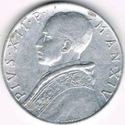Mynt > 10lire, 1951-1958 - Vatikanstaten  - reverse