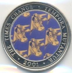 Moneda > 250chelines, 2001 - Somalia  (Times Change - Andy Warhol, Cow) - reverse