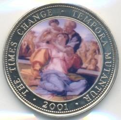 Moneta > 250szylingów, 2001 - Somalia  (Czasy się zmieniają - Michał Anioł, Święta Rodzina) - reverse