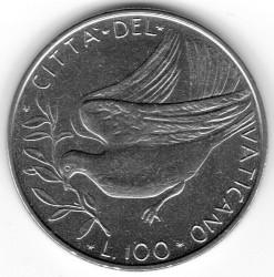 Minca > 100lire, 1970-1977 - Vatikán  - reverse