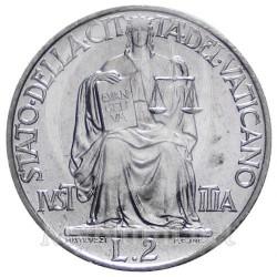 Mynt > 2lire, 1947-1949 - Vatikanstaten  - reverse