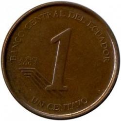Münze > 1Centavo, 2003 - Ecuador   (Stahl, Kupfer plattiert / magnetisch) - reverse