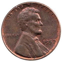 Coin > 1 cent, 1957 - USA  - reverse