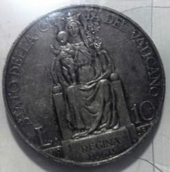 Moneta > 10lirów, 1939-1941 - Watykan  - reverse