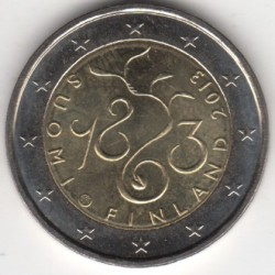 Moneda > 2euro, 2013 - Finlàndia  (150è aniversari del Parlament) - reverse