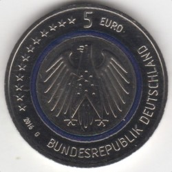 Moeda > 5euro, 2016 - Alemanha  (Planeta Terra) - obverse